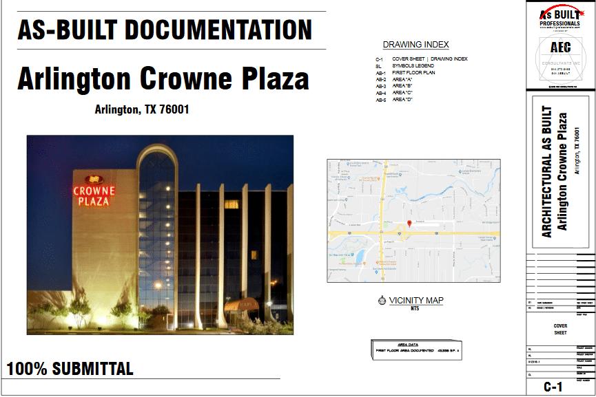 As Built Crown Plaza Arlington, TX