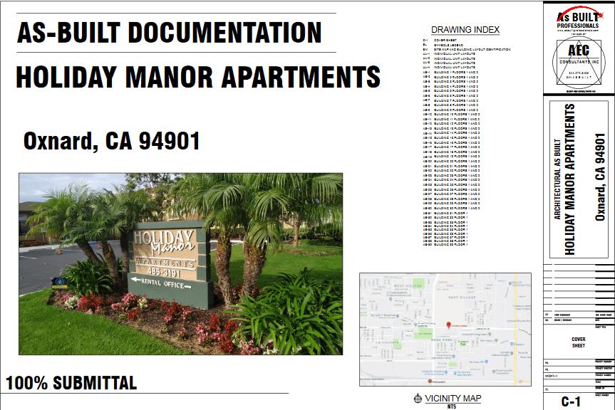 As Built Holiday Manor Oxnard, CA