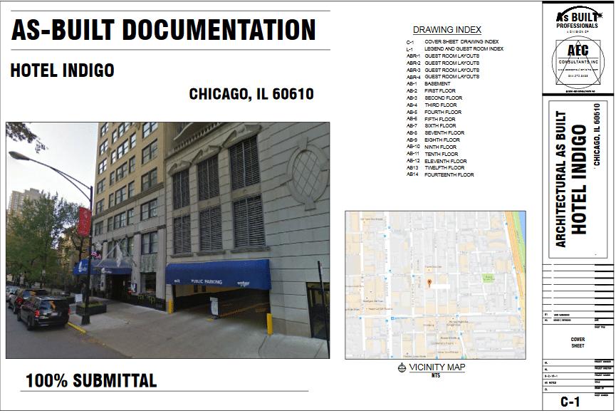 As Built Hotel Indigo Chicago IL