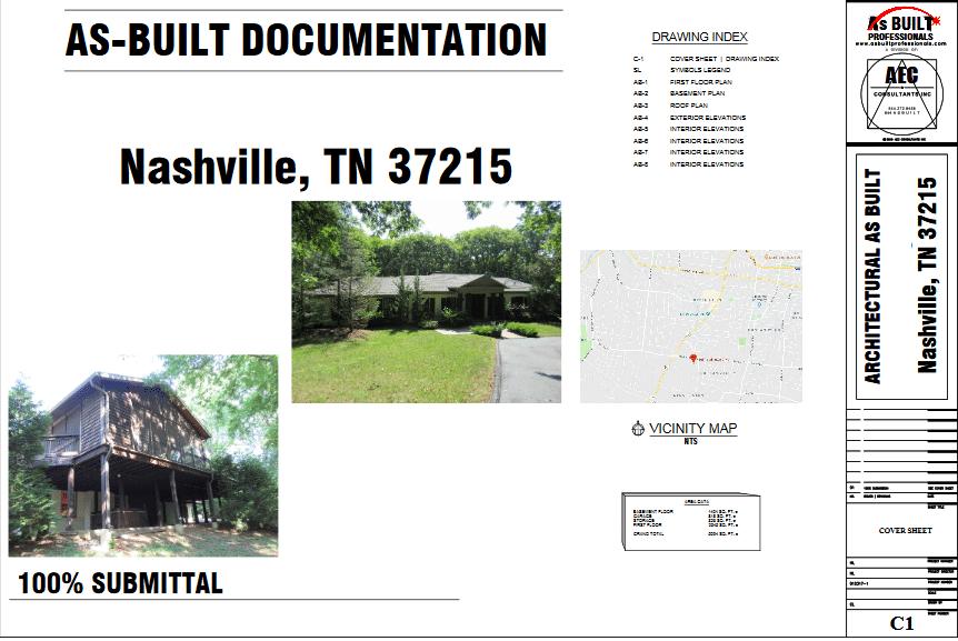 As Built Private residence Nashville, TN