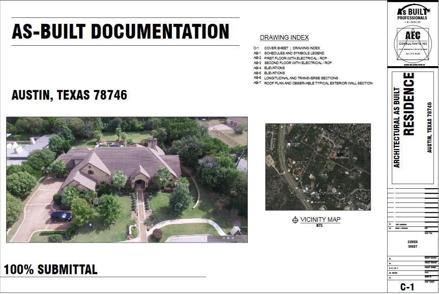 As Built Residence Austin, TX
