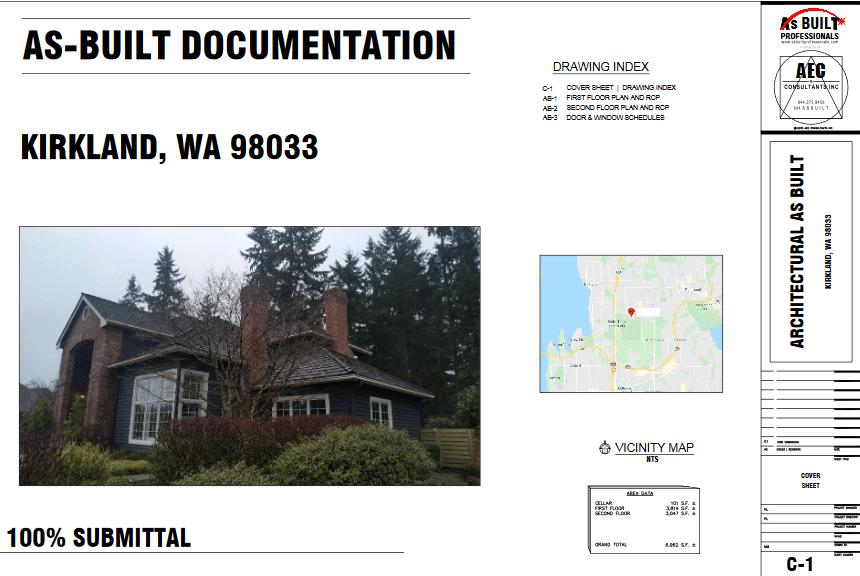 As Built Residence Kirkland, WA
