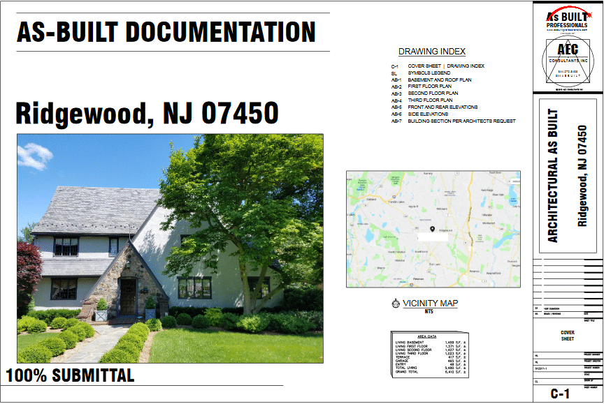 As Built Residence Ridgewood, NJ
