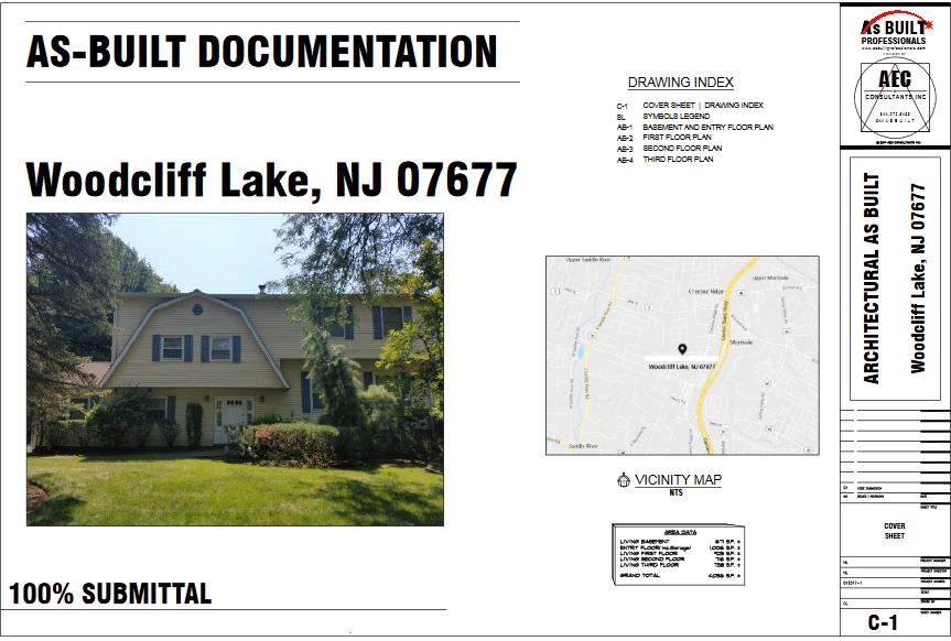 As Built Residence Woodcliff Lake, NJ
