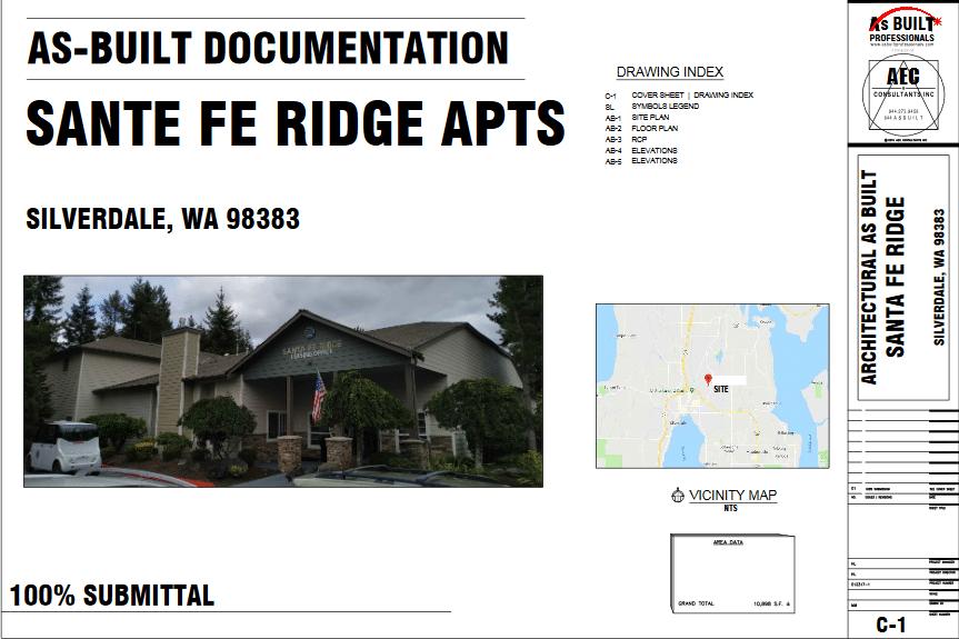 As Built Santa Fe Ridge Silverdale, WA