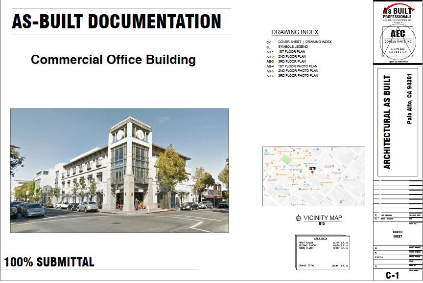 As Built Office Bldg Palo Alto CA