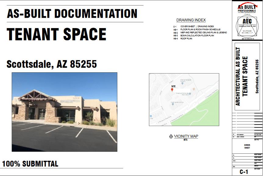 As Built Tenant Space Scottsdale,AZ