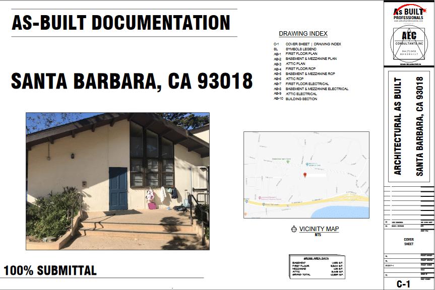 As Built Cate Hall Theater Santa Barbara CA