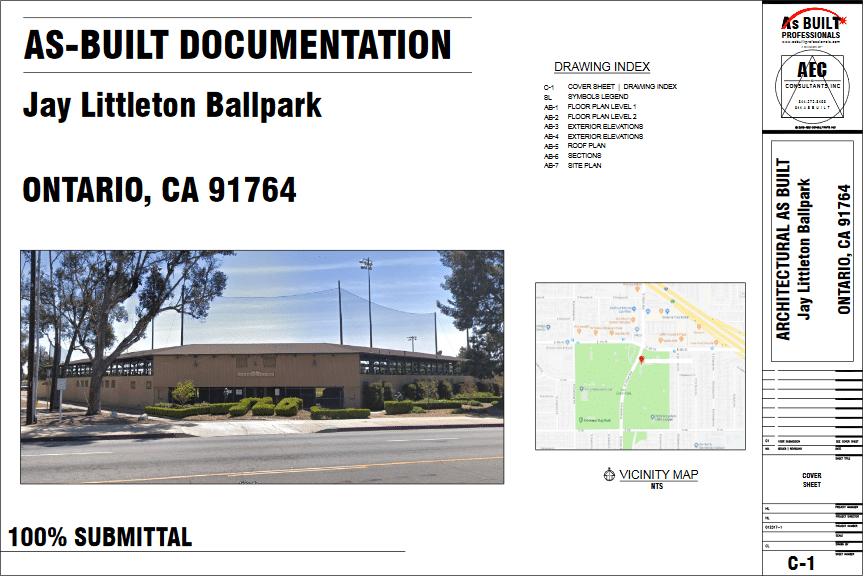 As Built BallPark Ontario CA