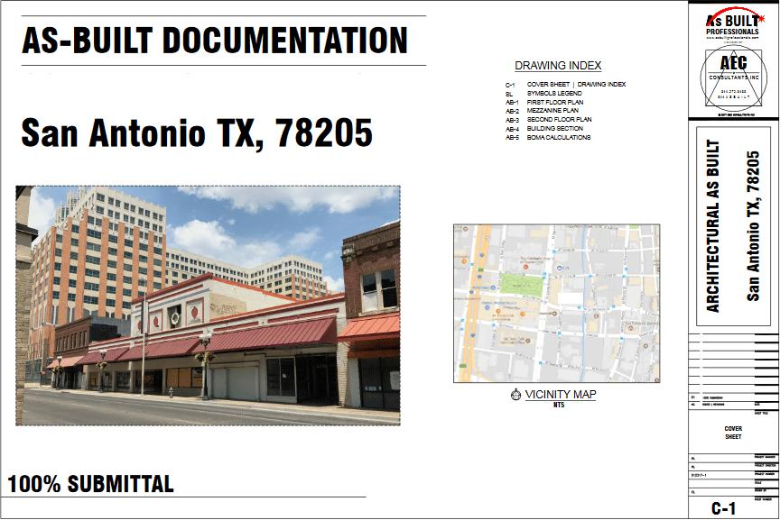 As Built Commercial Space San Antonio TX