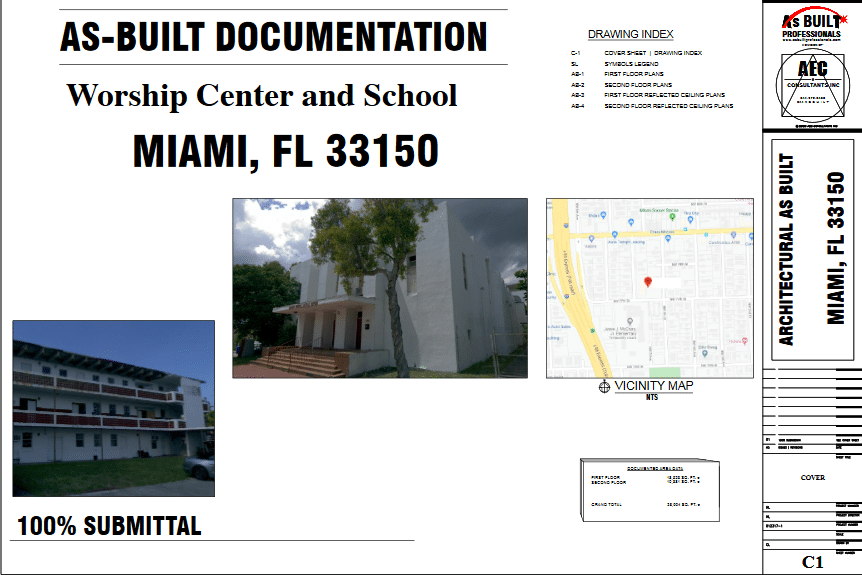 As Built Miami FL Worship Center