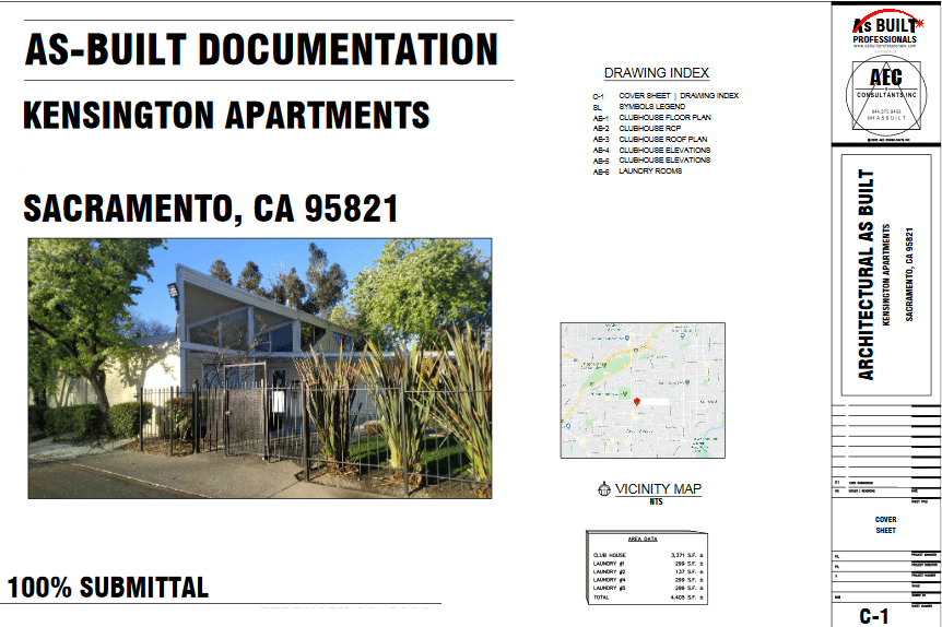 As Built Kensington Apartments Sacramento, CA