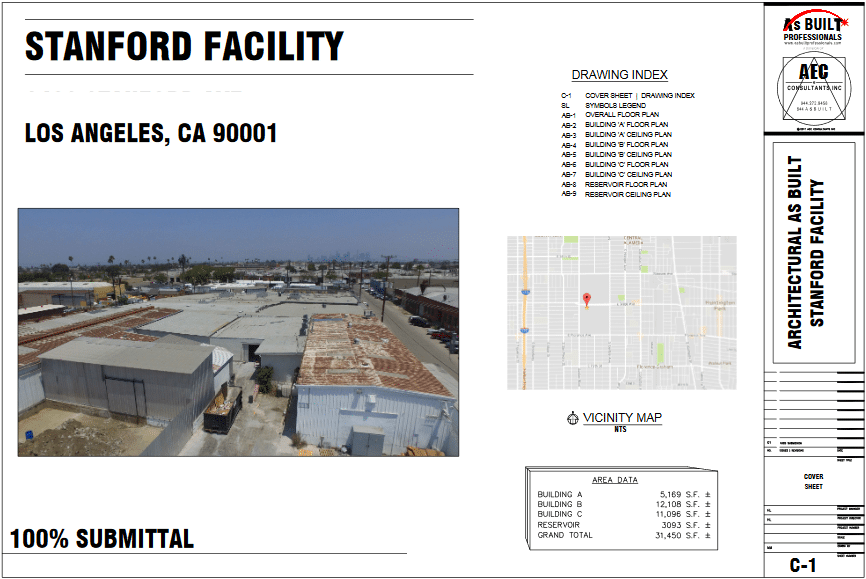 As Built Stanford Industrial Facility Los Angles, CA