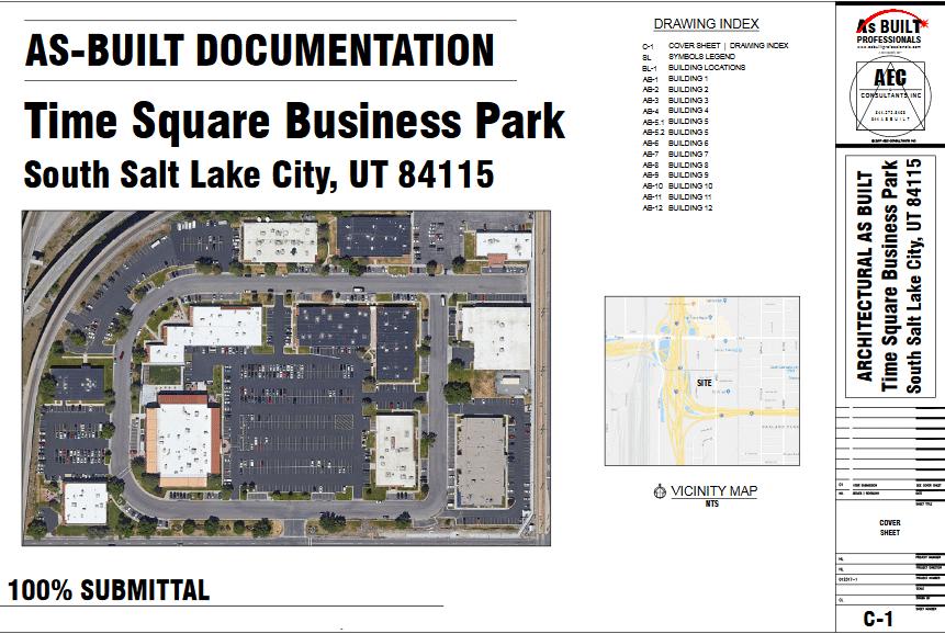 As Built Time Square Business Park Salt Lake City, UT