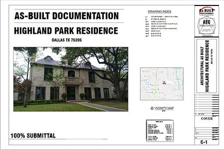 As Built Documentation Highland Park Residence