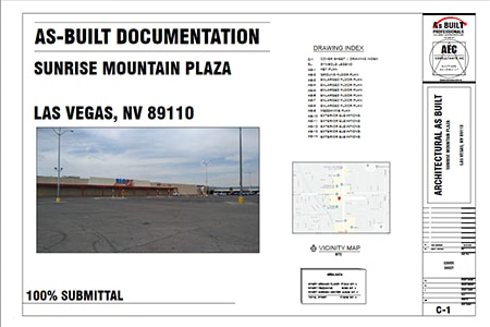 As Built Documentation Sunrise Mountain Plaza